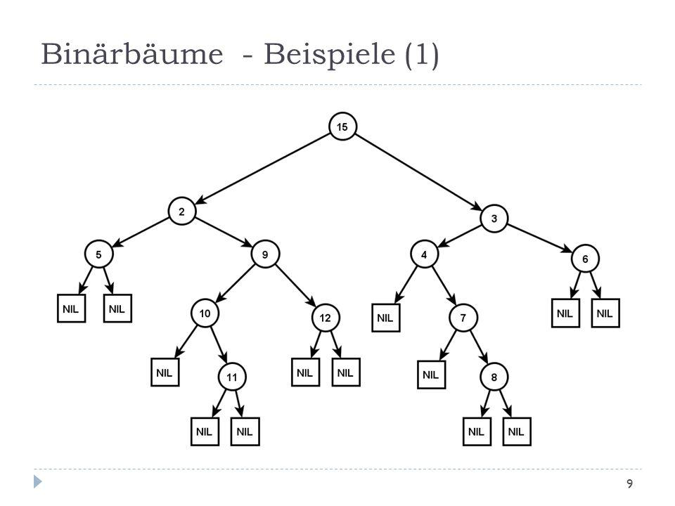 Binärbäume - Beispiele (1) 9