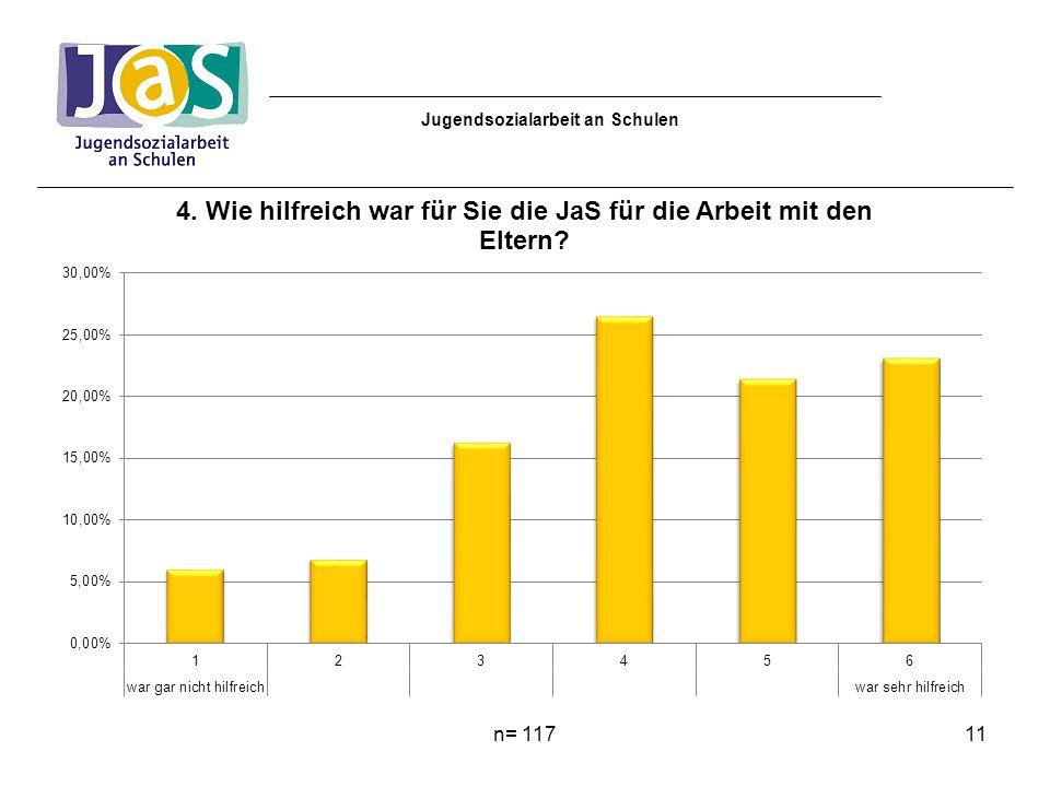 n= 11711 Jugendsozialarbeit an Schulen