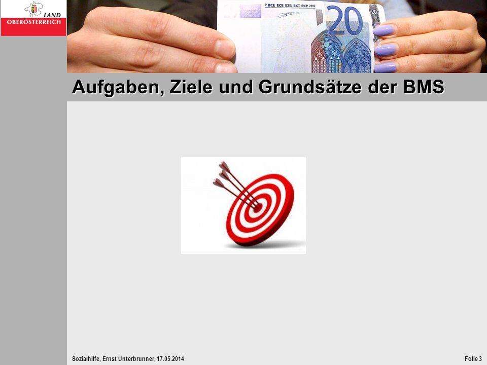 Sozialhilfe, Ernst Unterbrunner, 17.05.2014Folie 14 Anspruchsvoraussetzung - Einsatz eigene Mittel Freibeträge bei Vermögen Ersparnissen bis zu einem Freibetrag in Höhe des Fünffachen des Netto-Ausgleichszulagen-Richtsatzes für Alleinstehende (derzeit 3.866,70 Euro) sonstigen Vermögenswerten ausgenommen Immobilien, bis 3.866,70 Euro, wenn BMS nicht länger als sechs unmittelbar aufeinander folgende Monate bezogen wird.