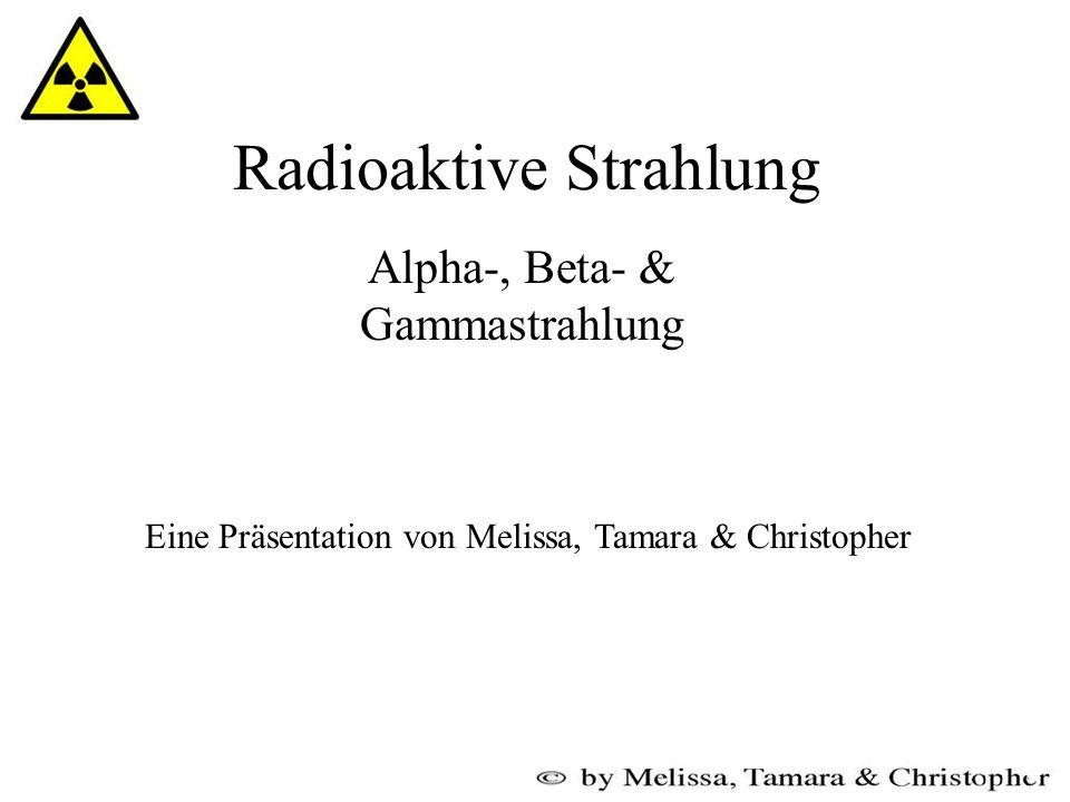 Gliederung des Vortrags Radioaktivität allgemein Isotope Massezahl Aufbau eines Atoms - Zerfall und die entstehende Strahlung