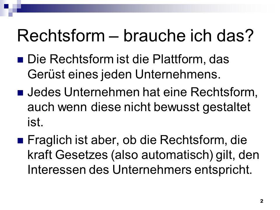 23 GmbH & Co.KG ähnelt in vielen Punkten (insbesondere Haftungsbeschränkung) der GmbH.