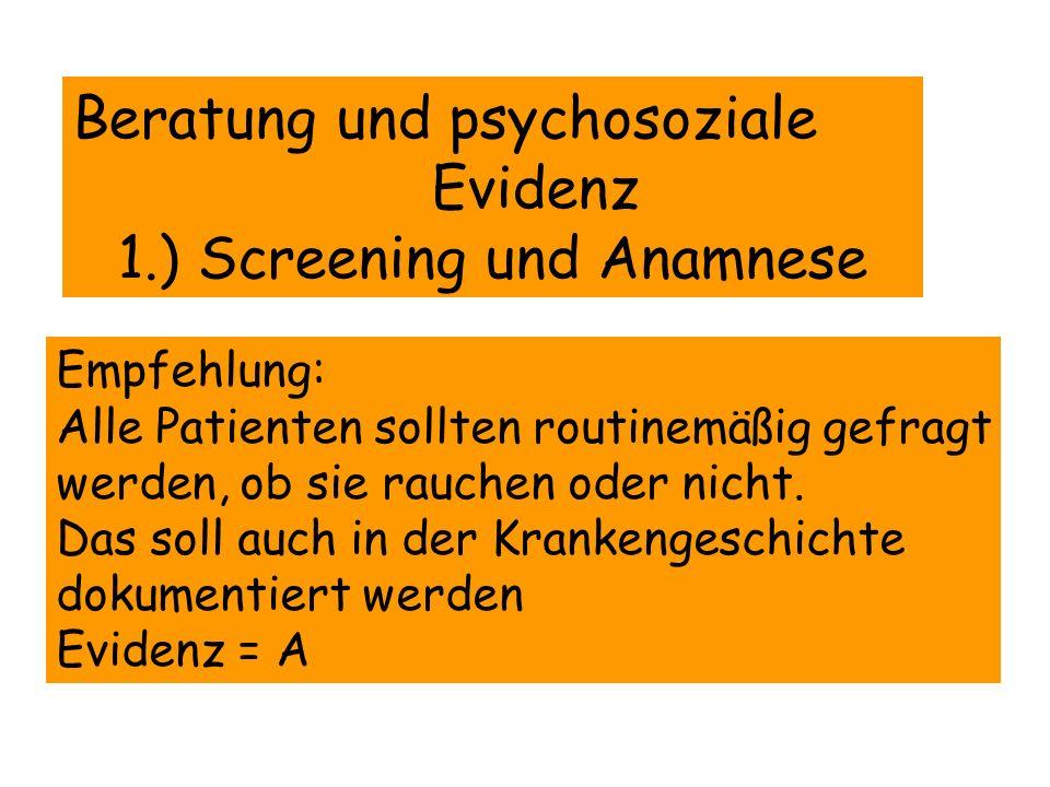 First-Line Medikamente 1.) Bupropionhydochlorid 2.) Nikotinkaugummi 3.) Nikotininhaler 4.) Nikotintablette 5.) Nikotin-Nasalspray 6.) Nikotinpflaster 7.) Varenicline Second-Line Medikamente 1.) Clonidin 2.) Nortrytilin