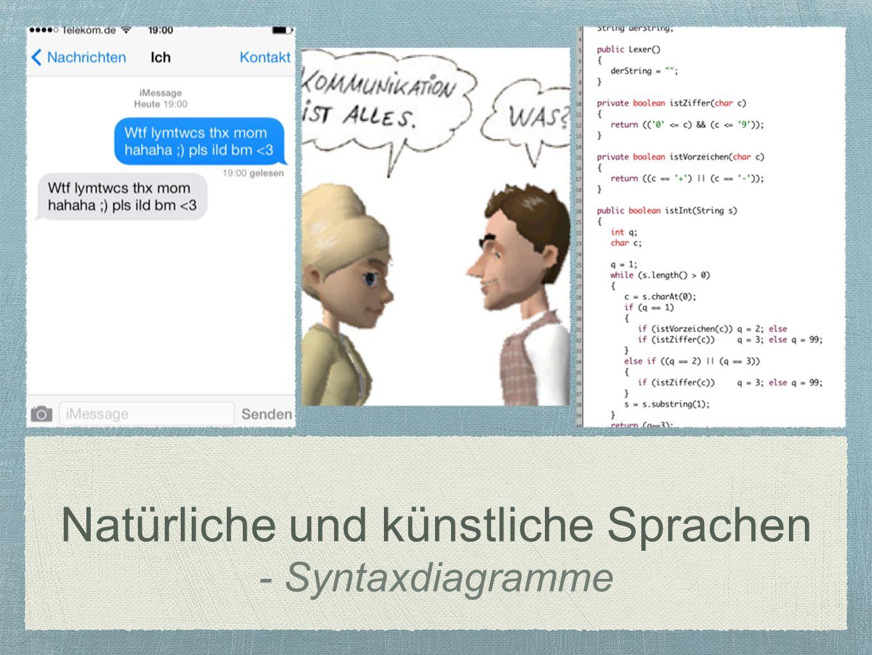 Natürliche und künstliche Sprachen - Syntaxdiagramme