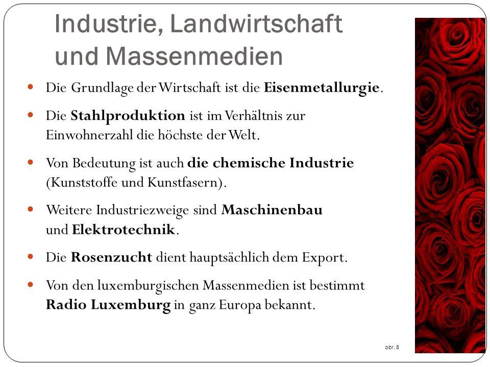 Industrie, Landwirtschaft und Massenmedien Die Grundlage der Wirtschaft ist die Eisenmetallurgie.