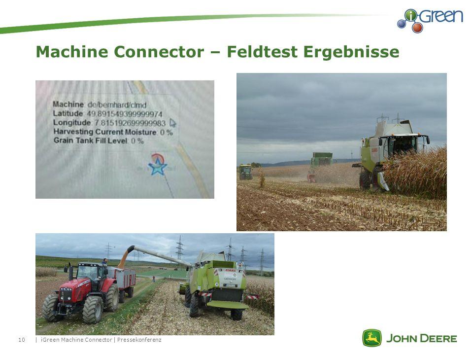 10| Machine Connector – Feldtest Ergebnisse iGreen Machine Connector | Pressekonferenz