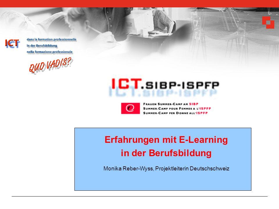monika.reber-wyss@bbt.admin.ch ICT quo-vadis 24.2.200512 zum Beispiel 2.3 Projekt SIBP Aus- und Weiterbildung: Bilanz SIBP macht sich fit: Bilanz - ICT mit Chancen und Schwächen thematisiert - Kompetenzen entwickelt - Projekte in den Bereichen ausgelöst - Weiterbildungskurse entwickelt - Evaluationen durchgeführt ICT-Know-how Didaktik Pädagogik www.edu.sibp.ch