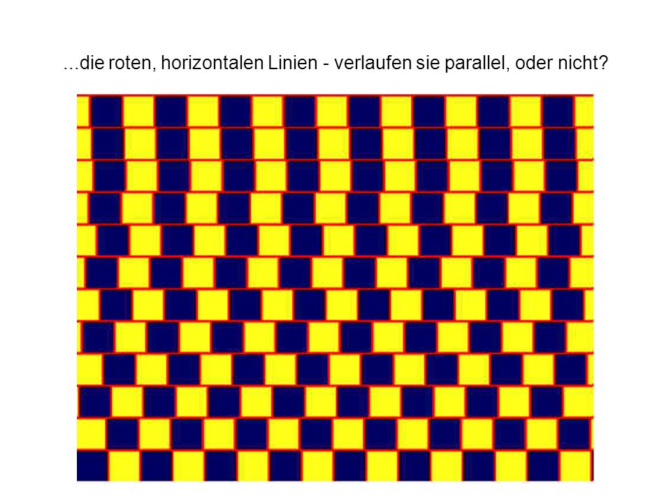 ...die roten, horizontalen Linien - verlaufen sie parallel, oder nicht?
