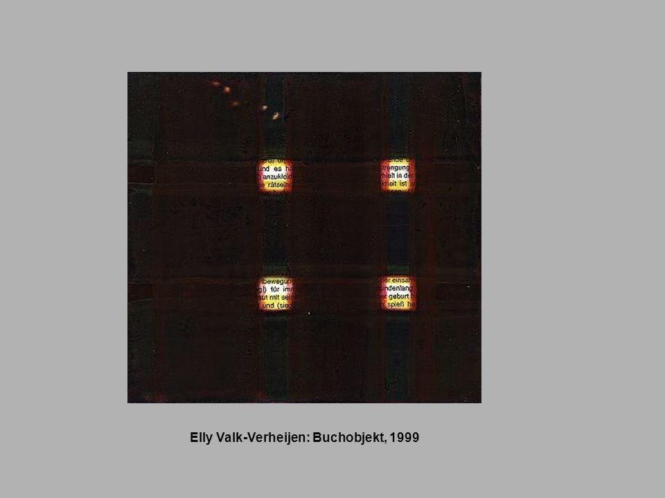 Elly Valk-Verheijen: Buchobjekt, 1999