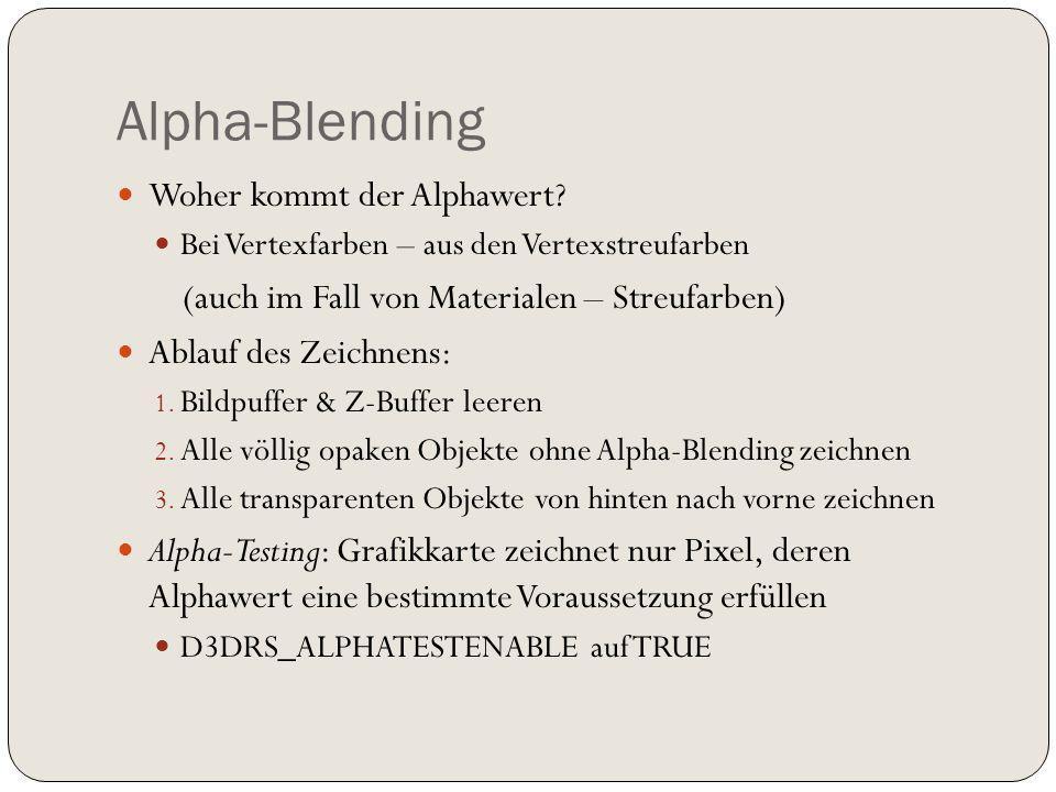 Alpha-Blending Woher kommt der Alphawert.