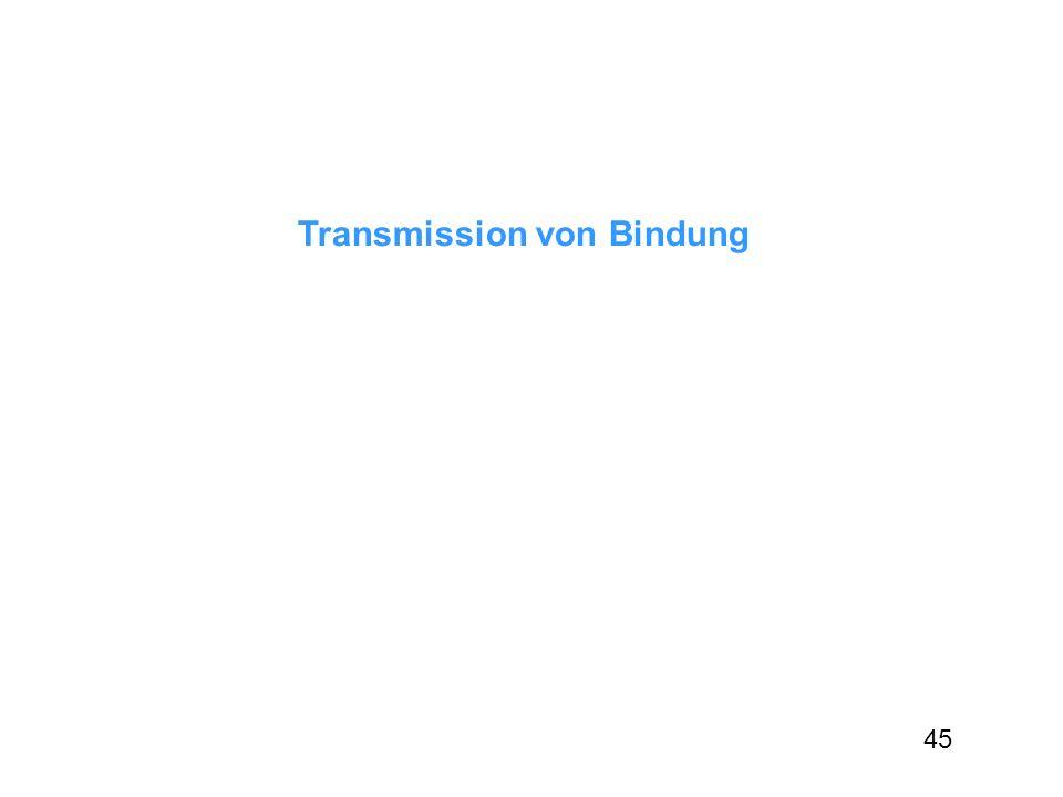 Transmission von Bindung 45
