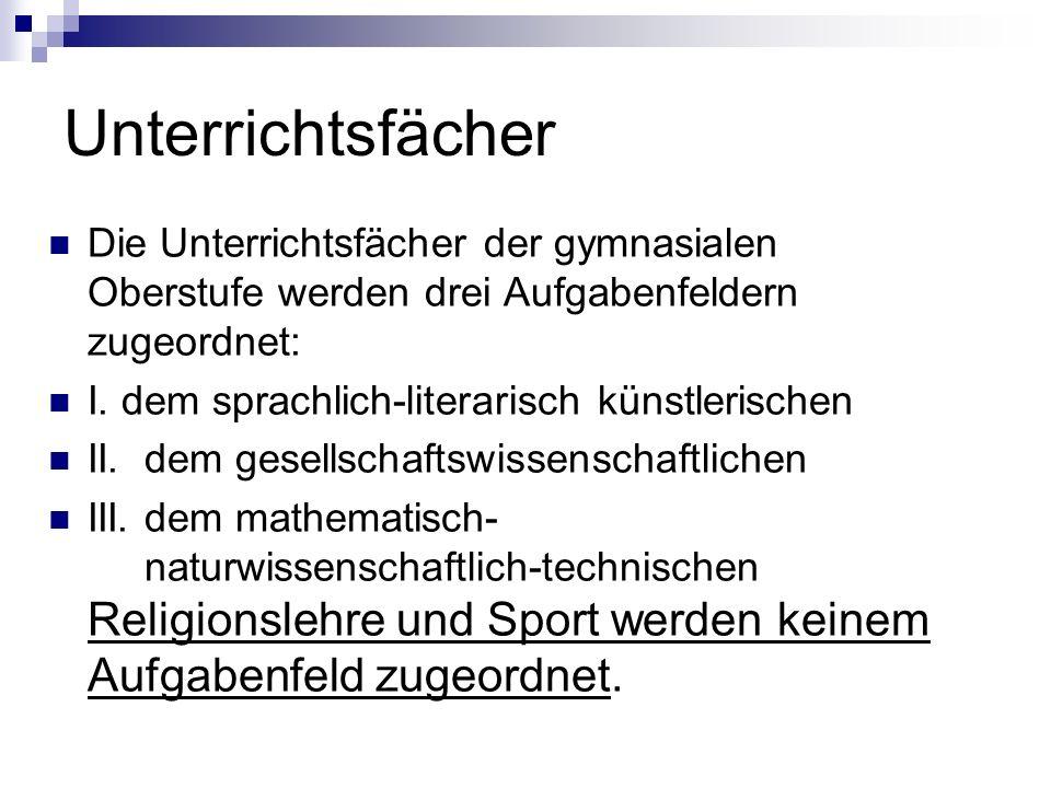 Planung der Schullaufbahn (2) Zentrale Vorgaben: Mindestens 102 Wochenstunden in der Oberstufe, d.h.
