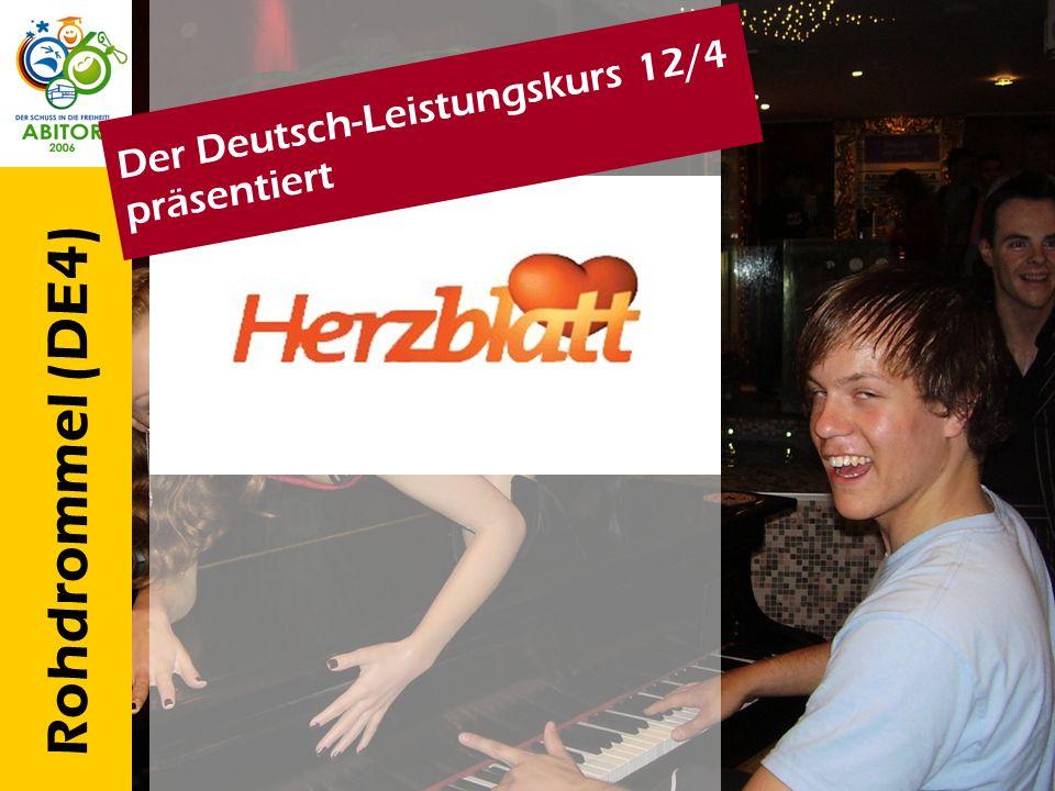 Rohdrommel (DE4) Der Deutsch-Leistungskurs 12/4 präsentiert