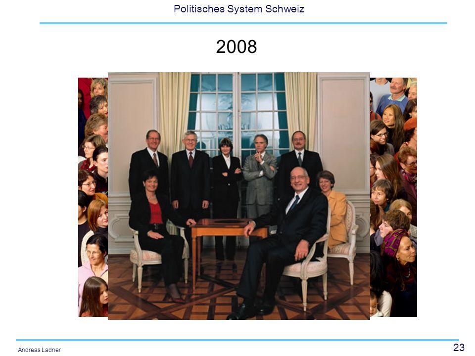 23 Politisches System Schweiz Andreas Ladner 2008