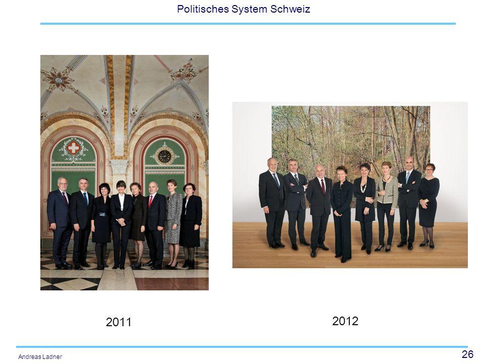 26 Politisches System Schweiz Andreas Ladner 2011 2012