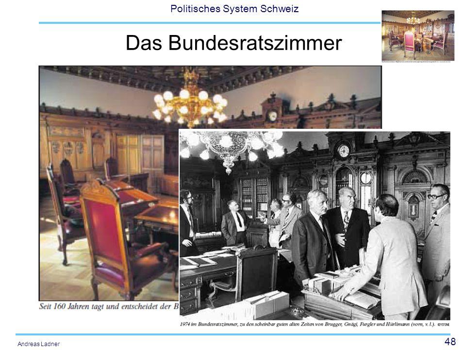 48 Politisches System Schweiz Andreas Ladner Das Bundesratszimmer