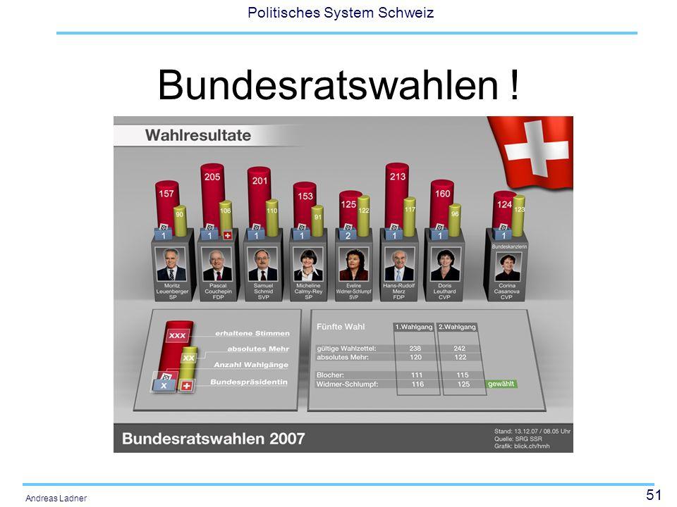51 Politisches System Schweiz Andreas Ladner Bundesratswahlen !
