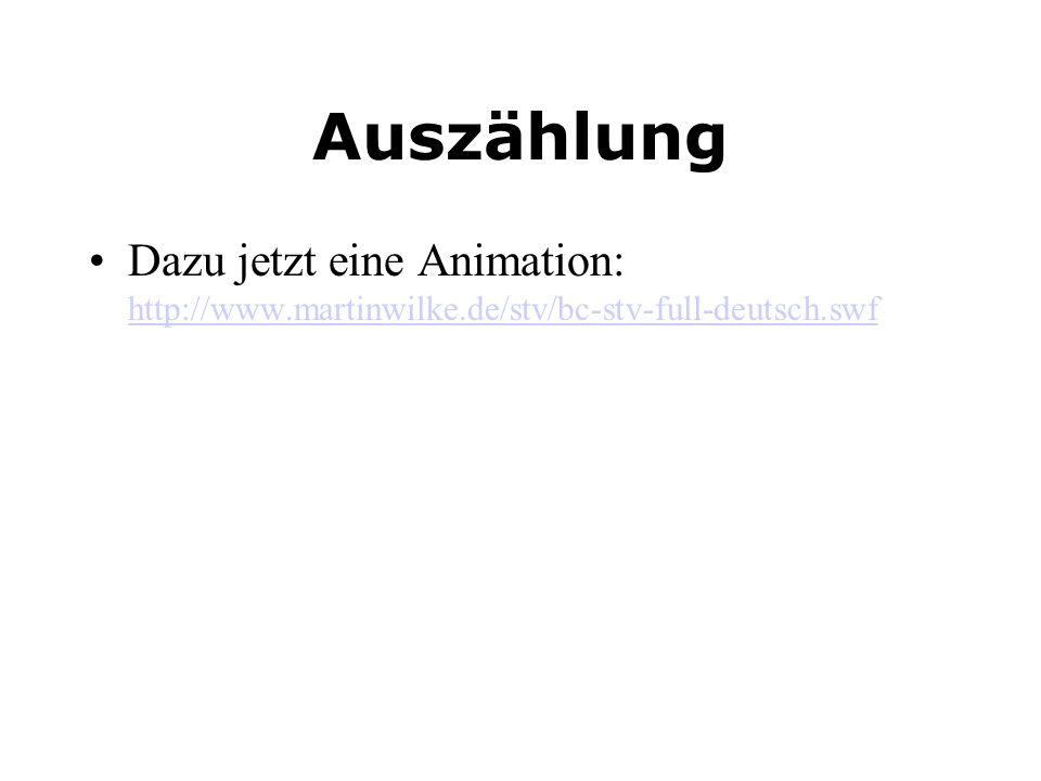 Auszählung Dazu jetzt eine Animation: http://www.martinwilke.de/stv/bc-stv-full-deutsch.swf http://www.martinwilke.de/stv/bc-stv-full-deutsch.swf