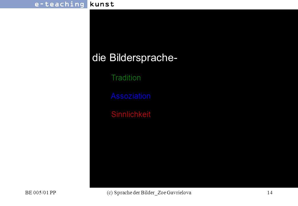 BE 005/01 PP(c) Sprache der Bilder_Zoe Gavrielova14 Werbung- Grafikdesign- Kunst die Bildersprache- Tradition Assoziation Sinnlichkeit