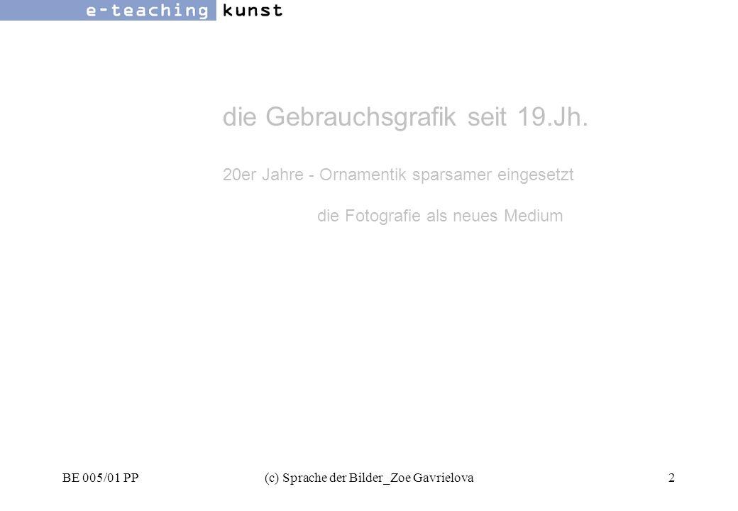 BE 005/01 PP(c) Sprache der Bilder_Zoe Gavrielova53 Werbung- Grafikdesign- Kunst links - rechts