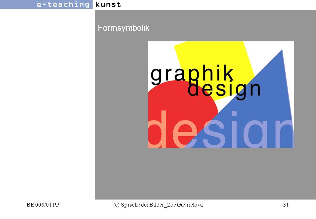 BE 005/01 PP(c) Sprache der Bilder_Zoe Gavrielova31 Werbung- Grafikdesign- Kunst Formsymbolik