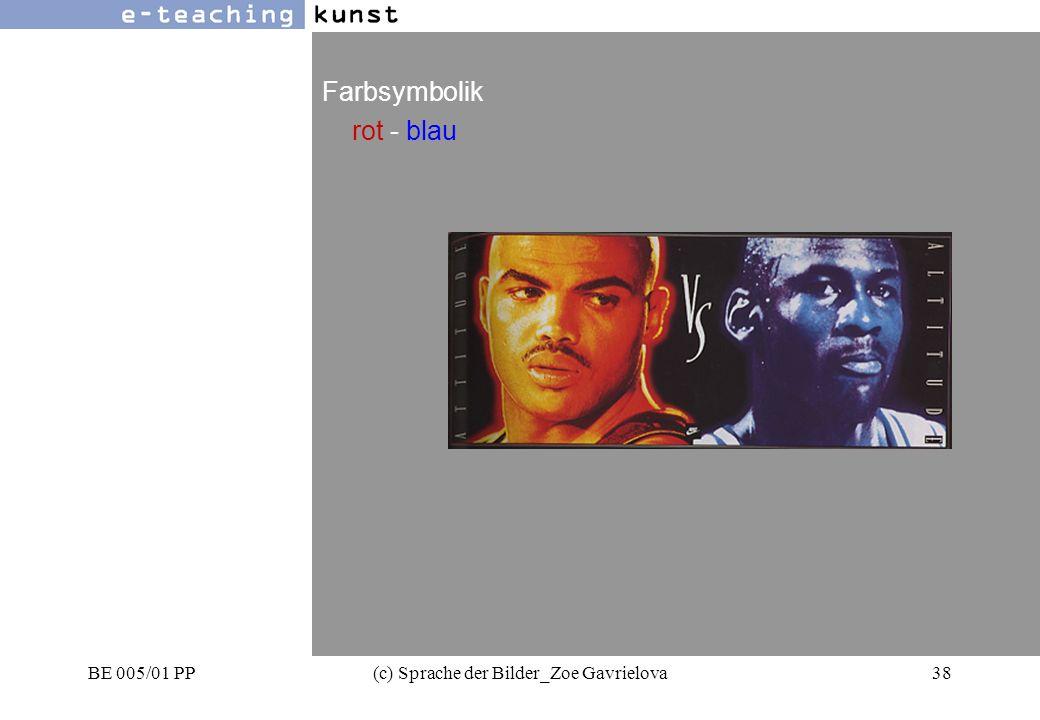 BE 005/01 PP(c) Sprache der Bilder_Zoe Gavrielova38 Werbung- Grafikdesign- Kunst Farbsymbolik rot - blau