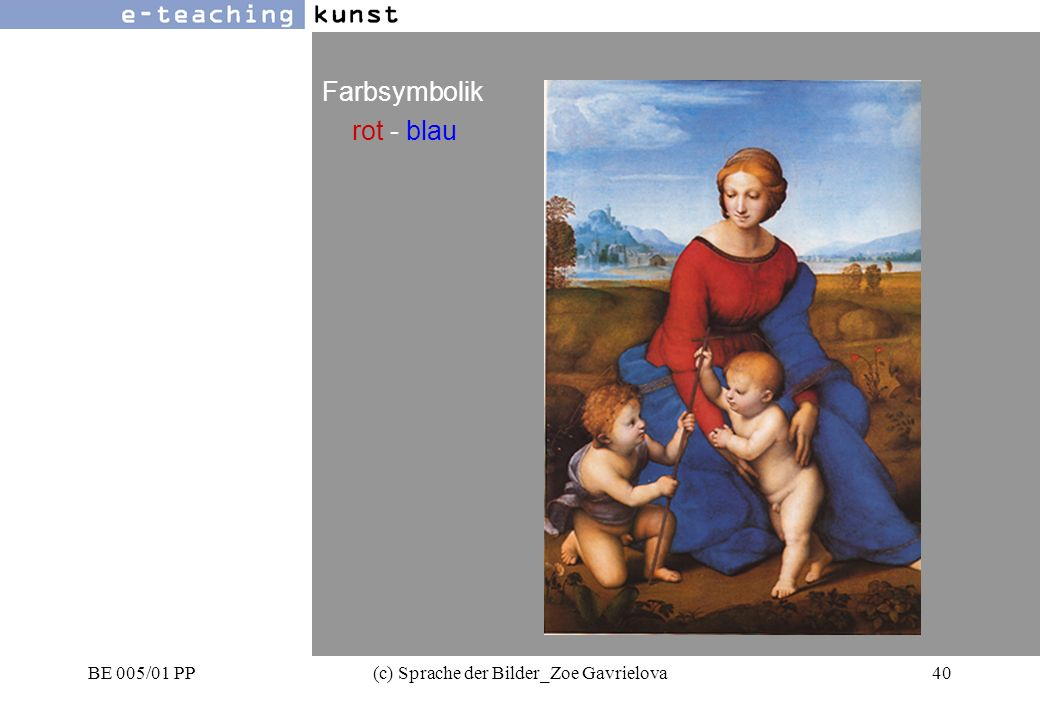 BE 005/01 PP(c) Sprache der Bilder_Zoe Gavrielova40 Werbung- Grafikdesign- Kunst Farbsymbolik rot - blau