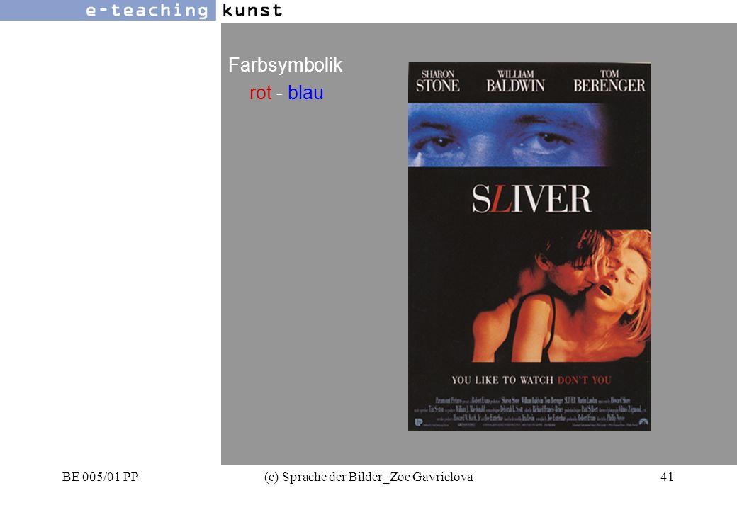 BE 005/01 PP(c) Sprache der Bilder_Zoe Gavrielova41 Werbung- Grafikdesign- Kunst Farbsymbolik rot - blau