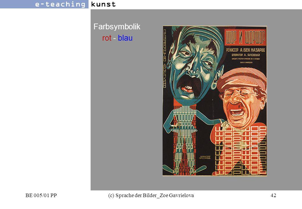 BE 005/01 PP(c) Sprache der Bilder_Zoe Gavrielova42 Werbung- Grafikdesign- Kunst Farbsymbolik rot - blau