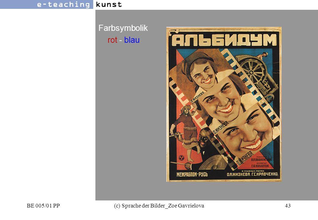 BE 005/01 PP(c) Sprache der Bilder_Zoe Gavrielova43 Werbung- Grafikdesign- Kunst Farbsymbolik rot - blau
