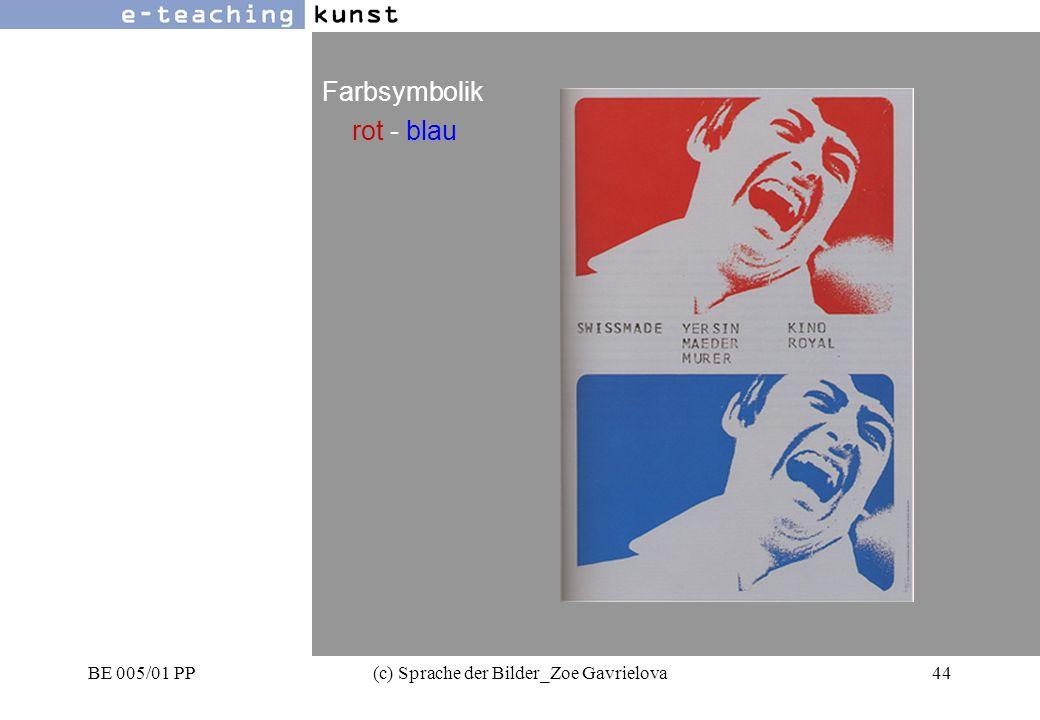 BE 005/01 PP(c) Sprache der Bilder_Zoe Gavrielova44 Werbung- Grafikdesign- Kunst Farbsymbolik rot - blau
