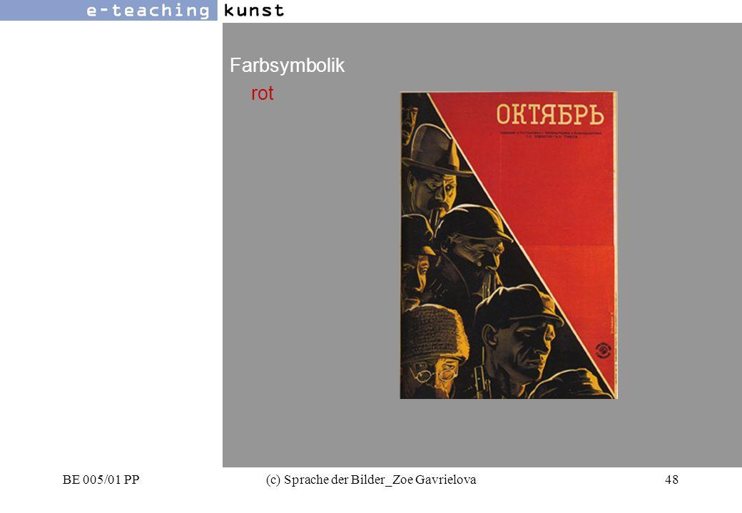 BE 005/01 PP(c) Sprache der Bilder_Zoe Gavrielova48 Werbung- Grafikdesign- Kunst Farbsymbolik rot