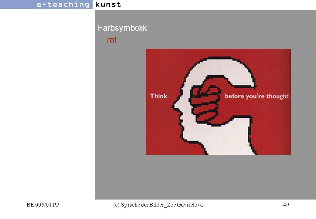 BE 005/01 PP(c) Sprache der Bilder_Zoe Gavrielova49 Werbung- Grafikdesign- Kunst Farbsymbolik rot