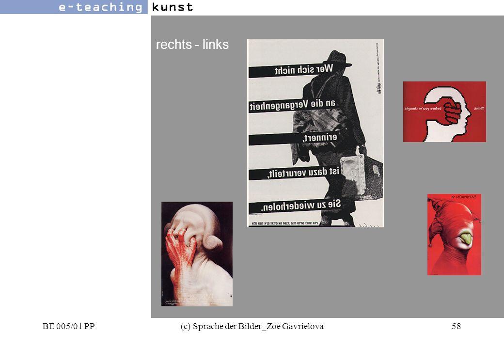 BE 005/01 PP(c) Sprache der Bilder_Zoe Gavrielova58 Werbung- Grafikdesign- Kunst rechts - links