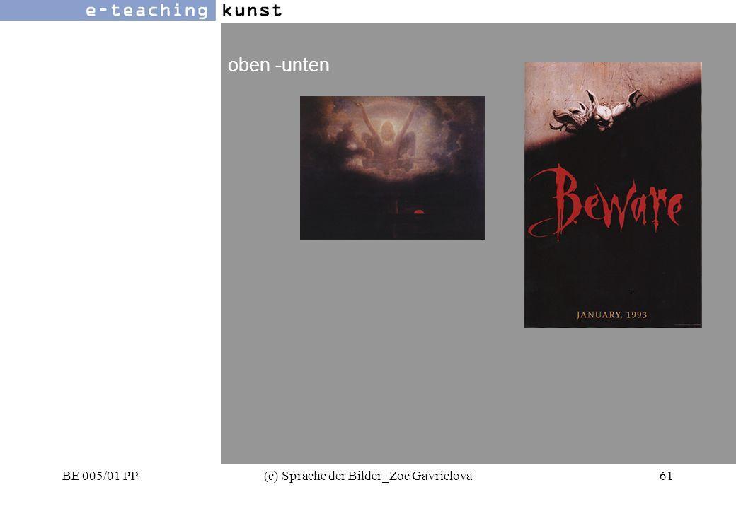 BE 005/01 PP(c) Sprache der Bilder_Zoe Gavrielova61 Werbung- Grafikdesign- Kunst oben -unten