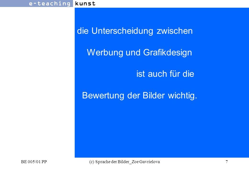 BE 005/01 PP(c) Sprache der Bilder_Zoe Gavrielova8 Werbung- Grafikdesign- Kunst in der Werbung.
