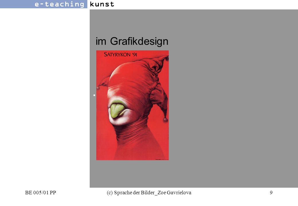 BE 005/01 PP(c) Sprache der Bilder_Zoe Gavrielova60 Werbung- Grafikdesign- Kunst oben -unten