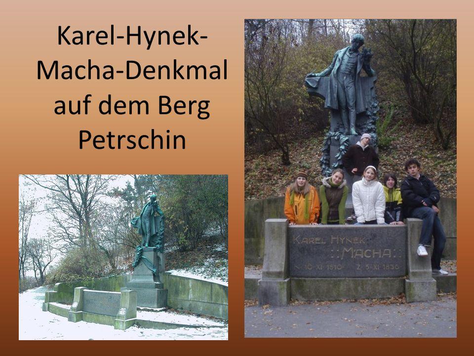 Karel-Hynek- Macha-Denkmal auf dem Berg Petrschin
