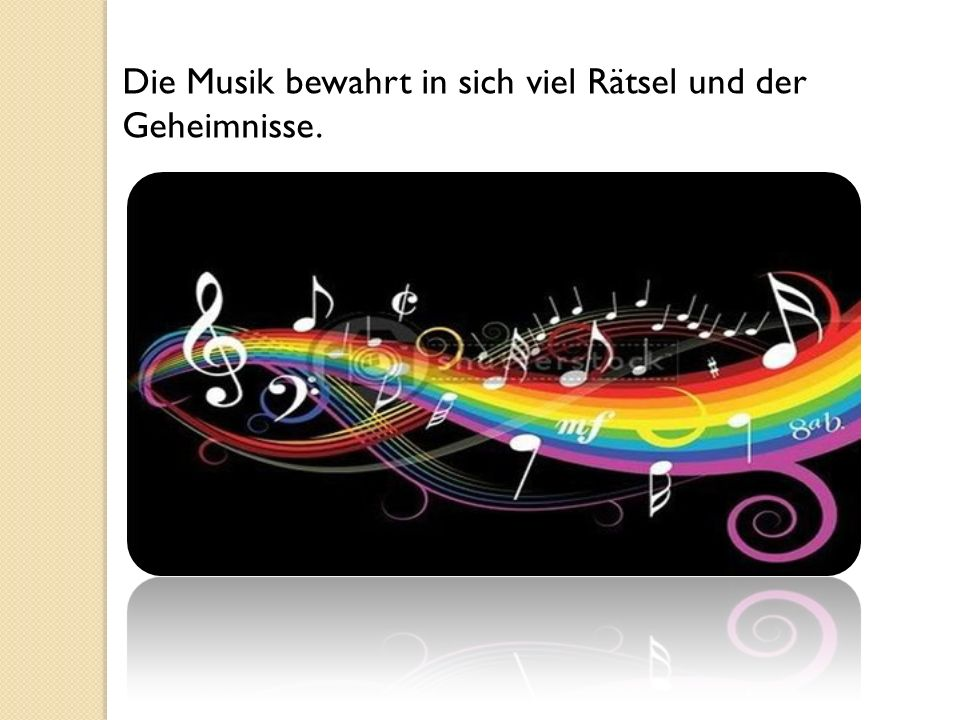 Verschiedenst und bei den verschiedensten Bedingungen in unserem Leben tönt die Musik.
