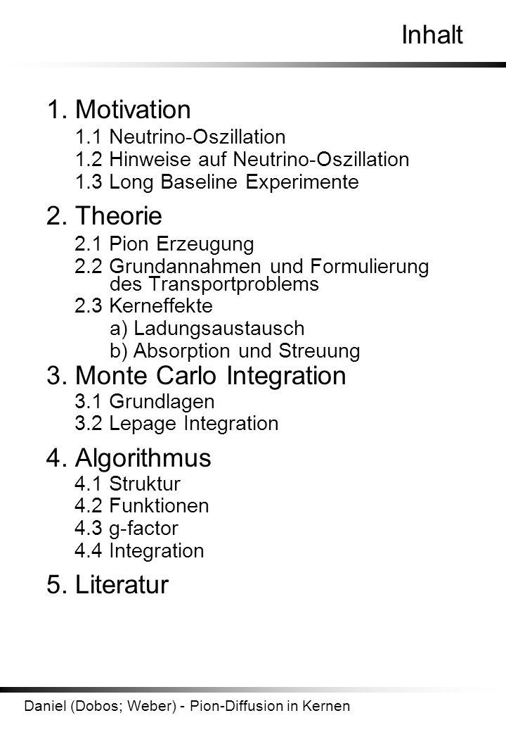 Daniel (Dobos; Weber) - Pion-Diffusion in Kernen Inhalt 1.