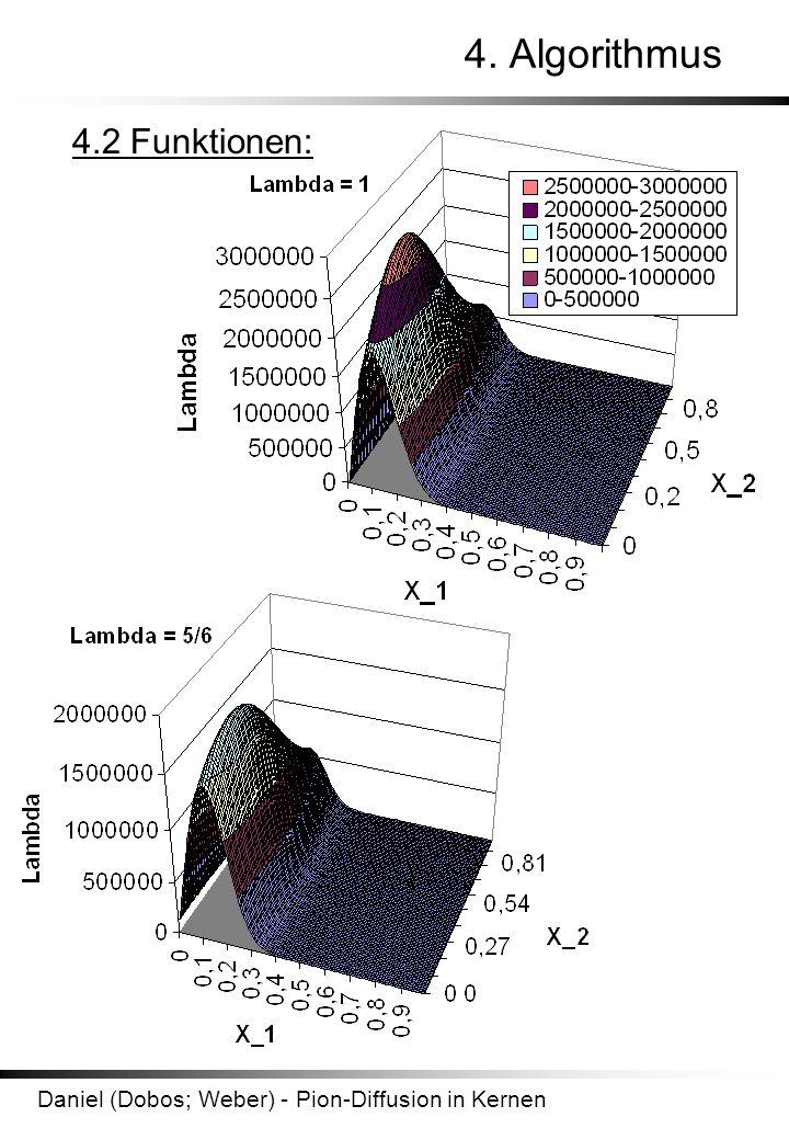 Daniel (Dobos; Weber) - Pion-Diffusion in Kernen 4. Algorithmus 4.2 Funktionen:
