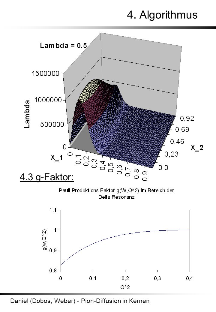 Daniel (Dobos; Weber) - Pion-Diffusion in Kernen 4. Algorithmus 4.3 g-Faktor: