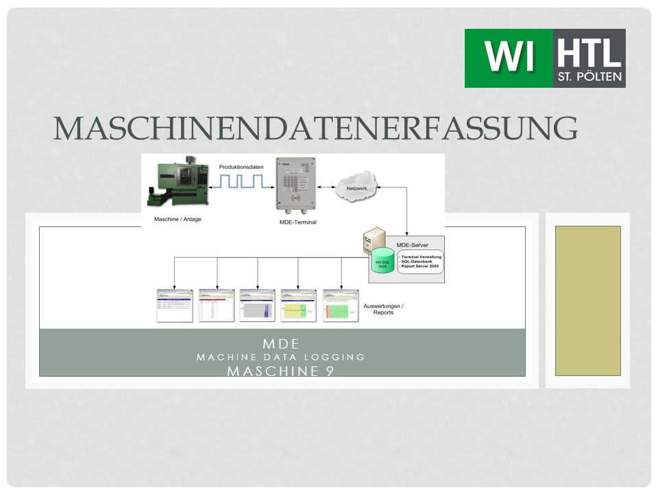 MDE MACHINE DATA LOGGING MASCHINE 9 MASCHINENDATENERFASSUNG