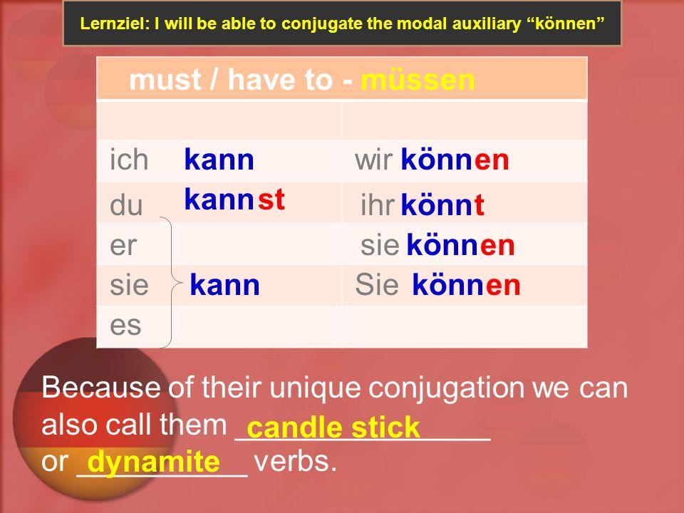 Lernziel: Expressing obligations using the modal auxiliary können Du und deine Freunde, ihr habt heute viel zu tun.