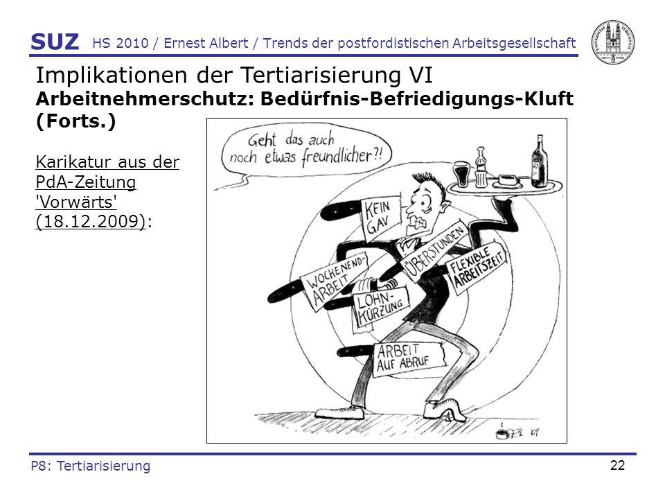 23 HS 2010 / Ernest Albert / Trends der postfordistischen Arbeitsgesellschaft Quellenhinweise Armingeon, K.