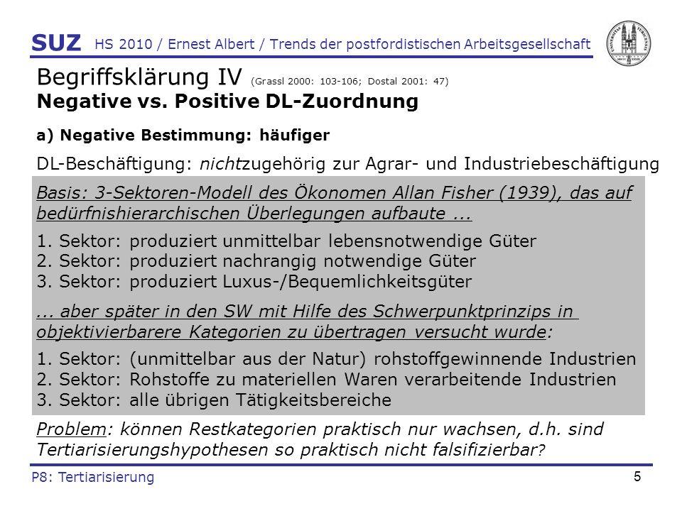 6 HS 2010 / Ernest Albert / Trends der postfordistischen Arbeitsgesellschaft Begriffsklärung V (Littek 1991: 267-269) Negative vs.