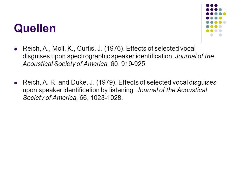 Quellen Reich, A., Moll, K., Curtis, J.(1976).