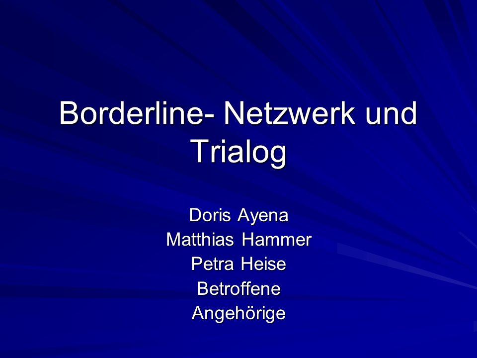 Borderline- Netzwerk und Trialog Doris Ayena Matthias Hammer Petra Heise BetroffeneAngehörige