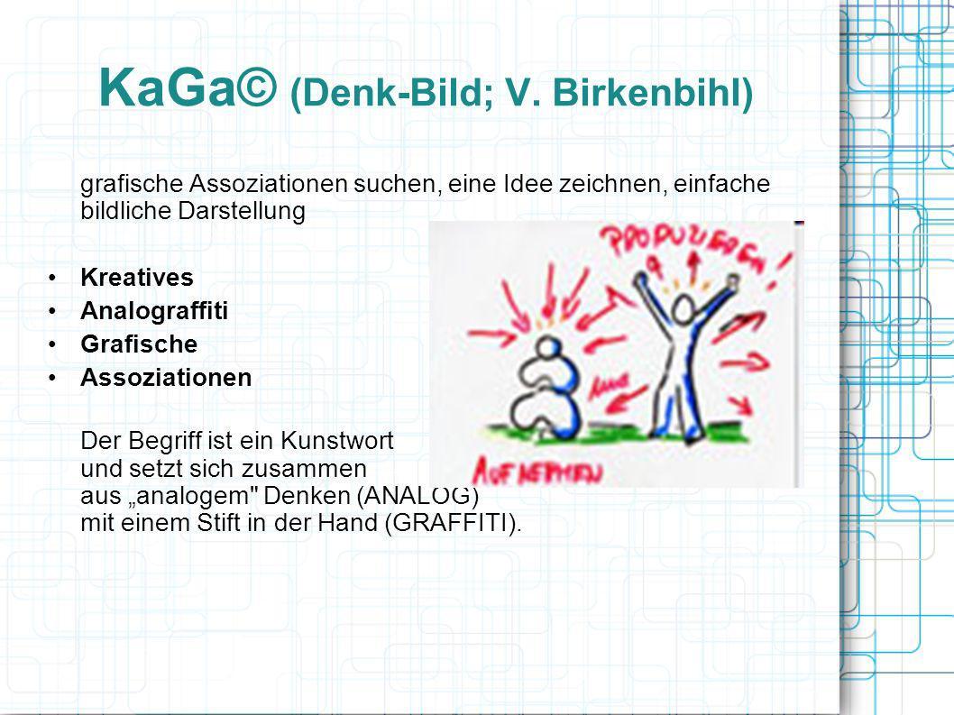 KaGa© (Denk-Bild; V. Birkenbihl) grafische Assoziationen suchen, eine Idee zeichnen, einfache bildliche Darstellung Kreatives Analograffiti Grafische