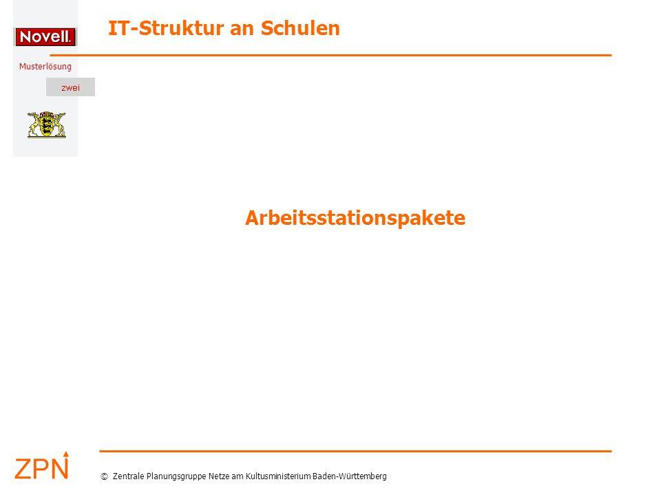 Musterlösung IT-Struktur an Schulen © Zentrale Planungsgruppe Netze am Kultusministerium Baden-Württemberg Arbeitsstationspakete