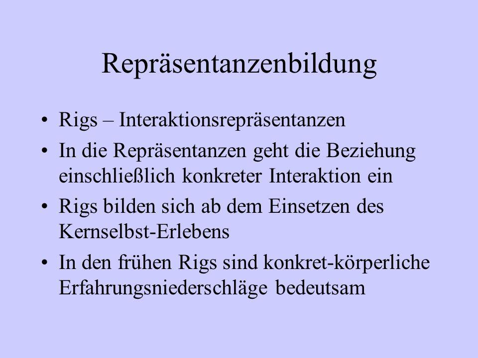 Repräsentanzenbildung Rigs – Interaktionsrepräsentanzen In die Repräsentanzen geht die Beziehung einschließlich konkreter Interaktion ein Rigs bilden